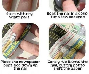 newspaper nails tutorial image