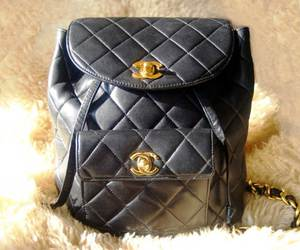 backpack, bag, and chanel image