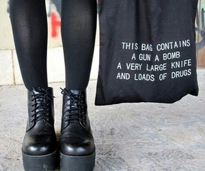 black, bag, and shoes image