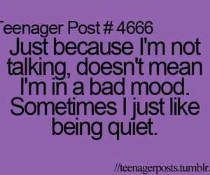 quiet, quote, and teenager post image