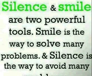 silence, smile, and powerful weapons image