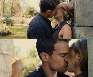 couple, allegiant, and kiss image