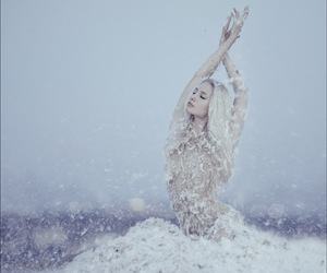 beautiful, blonde hair, and winter image