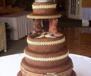 cake, horse, and boots image