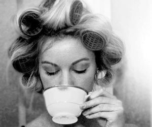 tea, black and white, and vintage image