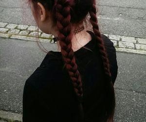 hair, grunge, and braid image