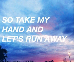 grunge, quote, and sky image