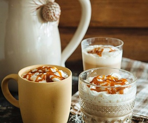 autumn, caramel, and drink image