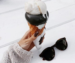 ice cream, chocolate, and fashion image