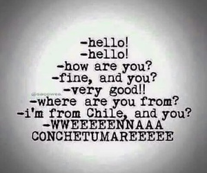 chile, chiste, and conchetumare image