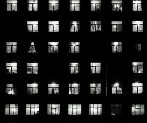 light, night, and windows image