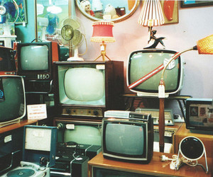 tv, vintage, and television image
