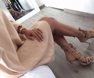beige, dress, and girly image