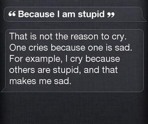 siri, iphone, and cry image