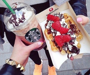 food, starbucks, and chocolate image