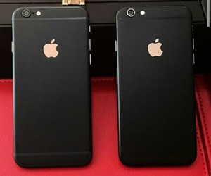 black, iphone, and apple image