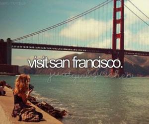 visit, san francisco, and travel image