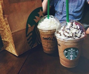 chocolate, starbucks, and summer image