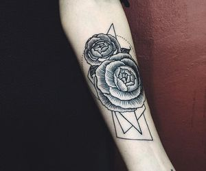 flower, old school, and tattoo image