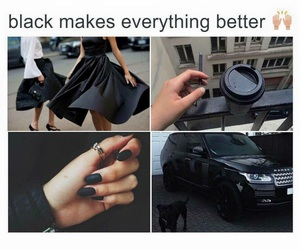 black, nails, and car image