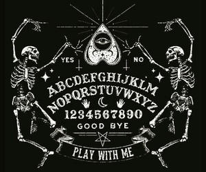 ouija, black, and dark image