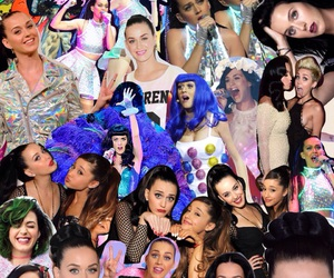 katy perry, miley cyrus, and ariana grande image
