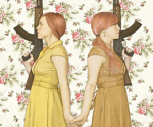 design, Typeography, and girls with guns image