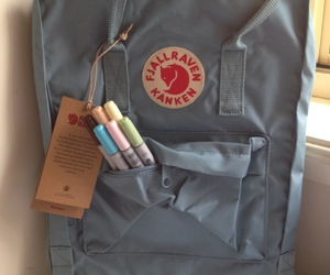 bag, blue, and pens image