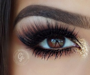 beauty, eye, and fall image
