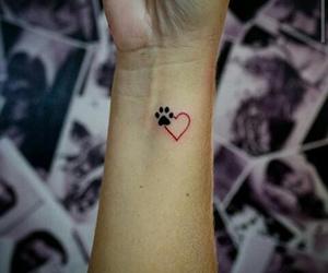 tattoo, love, and dog image
