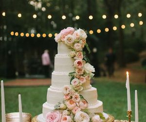 cake, marriage, and scenery image