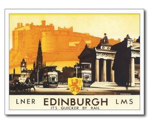 edinburgh, postcard, and scotland image