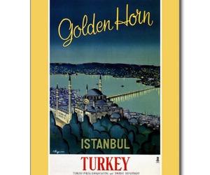 golden, horn, and postcard image