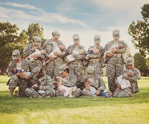 army, women, and babies image