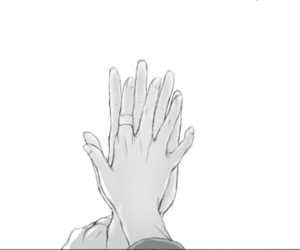 hands, manga, and anime image