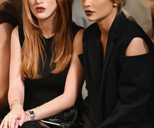 kylie jenner, bella thorne, and nyfw image