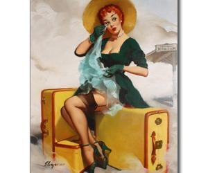 girl, pinup, and postcard image