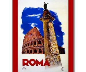 italian, postcard, and roma image