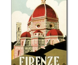 duomo, postcard, and florence image