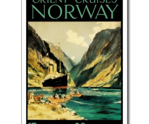 norway, poster, and orient image