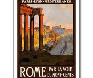 postcard, poster, and rome image