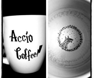 harry potter, accio, and coffee image