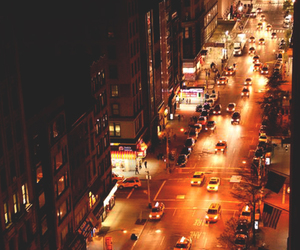 city, vintage, and city lights image