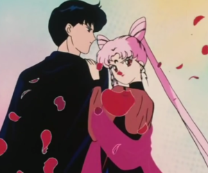 sailor moon, tuxedo mask, and black lady image