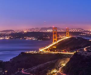city, lights, and san francisco image