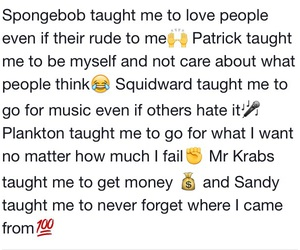 lesson, quotes, and spongebob image