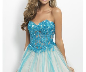 dress, blue, and homecoming image