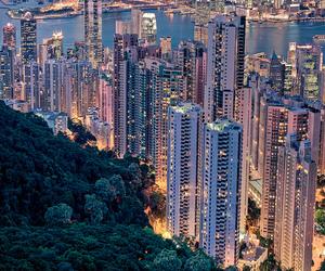 city, hong kong, and china image