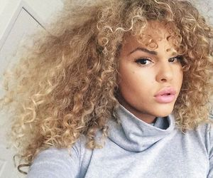 Afro, hair, and blond image