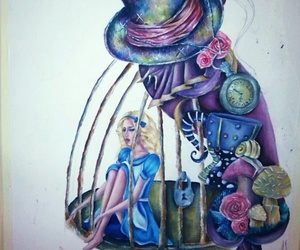 alice, cheshire, and caged image